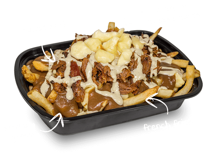 Champ Burger Pulled Pork Poutine